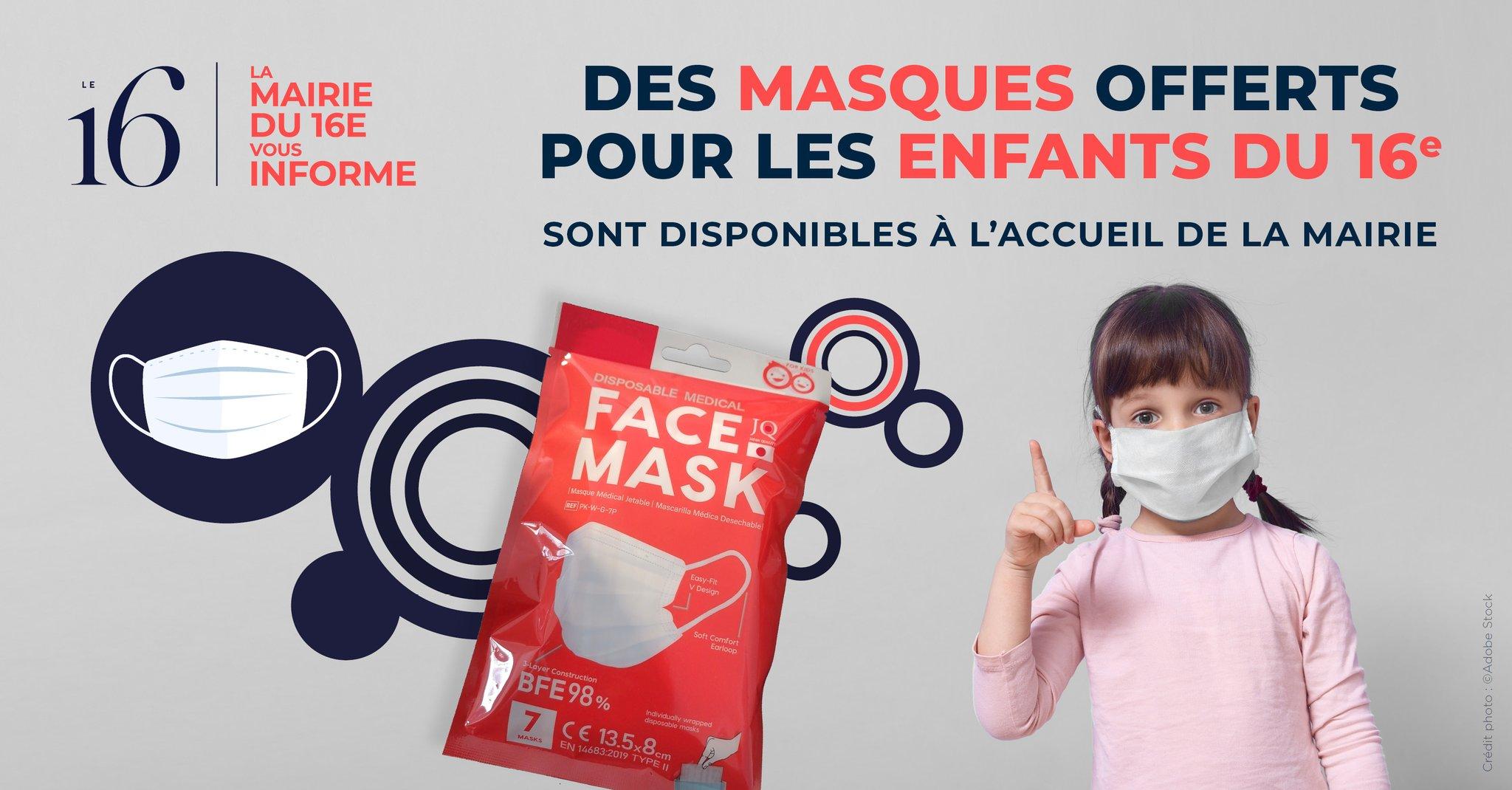 Mairie du 16e, masques